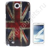Пластиковый чехол Retro Flag United Kingdom для Samsung Galaxy Note 2 / N7100