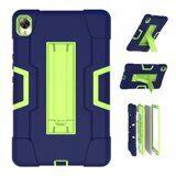Гибридный TPU чехол для Huawei MediaPad M6 8.4 (темно-синий + зеленый)