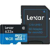 micro SDHC карта памяти Lexar 16GB Class 10 633x UHS-I с адаптером
