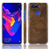 Кожаная накладка-чехол Litchi Texture для Huawei Honor View 20 (коричневый)