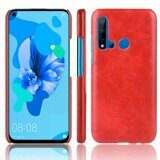 Кожаная накладка-чехол для Huawei P20 lite (2019)  (красный)
