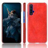 Кожаная накладка-чехол для Huawei nova 5T (красный)