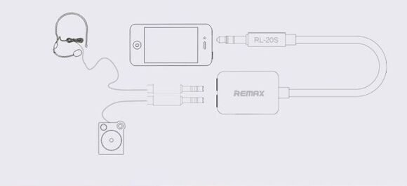Двойник Remax 3.5 Audio Jack - (1)