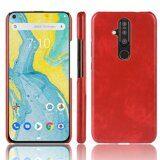 Кожаная накладка-чехол для Nokia X71 (красный)