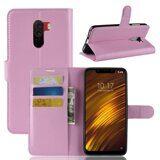 Чехол с визитницей для Xiaomi Pocophone F1 / Poco F1 (розовый)