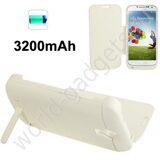 Внешнее зарядное устройство-чехол 3200mAh для Samsung Galaxy S4 / i9500 (белый)
