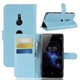 Чехол с визитницей для Sony Xperia XZ3 (голубой)