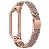 Сетчатый браслет для Samsung Galaxy Fit E SM-R375 (розовое золото)