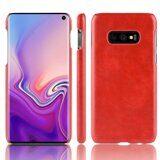 Кожаная накладка-чехол Litchi Texture для Samsung Galaxy S10e (красный)