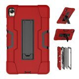 Гибридный TPU чехол для Huawei MediaPad M6 8.4 (красный + черный)