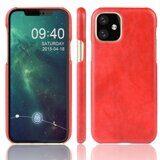 Кожаная накладка-чехол для iPhone 11 Pro Max (красный)