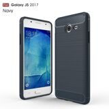 Чехол-накладка Carbon Fibre для Samsung Galaxy J5 (2017) US Version (темно-синий)