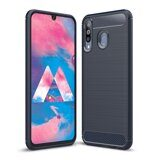 Чехол-накладка Carbon Fibre для Samsung Galaxy A40s (темно-синий)