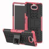 Чехол Hybrid Armor для Sony Xperia 10 (черный + розовый)