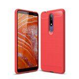 Чехол-накладка Carbon Fibre для Nokia 3.1 Plus (красный)