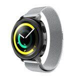 Миланский сетчатый браслет Luxury для Samsung Watch Active2 44мм. (серебряный)