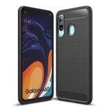 Чехол-накладка Carbon Fibre для Samsung Galaxy A60 (черный)