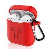 Силиконовый чехол для Apple AirPods (Shock Proof - красный)