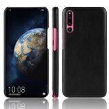 Кожаная накладка-чехол Litchi Texture для Huawei P30 (черный)