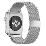 Миланский сетчатый браслет Luxury для Apple Watch 44 и 42мм (серебряный)