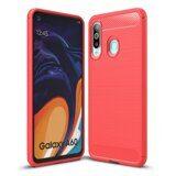 Чехол-накладка Carbon Fibre для Samsung Galaxy A60 (красный)