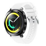 Силиконовый ремешок для Samsung Watch Active2 44мм. (белый)