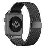 Миланский сетчатый браслет Luxury для Apple Watch 44 и 42мм (черный)