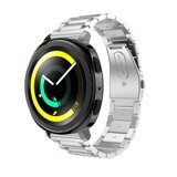 Стальной браслет Solid Stainless для Samsung Gear Sport / Gear S2 Classic / Galaxy Watch 42мм / Watch Active (серебряный)