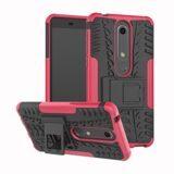 Чехол Hybrid Armor для Nokia 6.1 (черный + розовый)