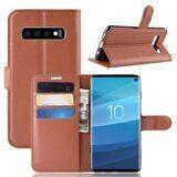 Чехол для Samsung Galaxy S10 (коричневый)