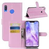Чехол с визитницей для Huawei Nova 3i / P Smart+ (Plus) (розовый)