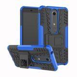 Чехол Hybrid Armor для Nokia 6.1 (черный + голубой)