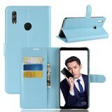 Чехол с визитницей для Huawei Honor Note 10 (голубой)