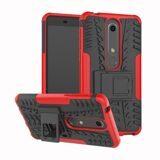 Чехол Hybrid Armor для Nokia 6.1 (черный + красный)