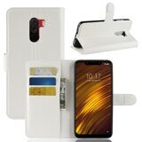 Чехол с визитницей для Xiaomi Pocophone F1 / Poco F1 (белый)