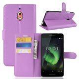 Чехол с визитницей для Nokia 2.1 (фиолетовый)