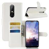 Чехол с визитницей для Nokia 6.1 Plus (белый)