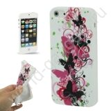 Чехол Fashionable Butterfly TPU для iPhone 5