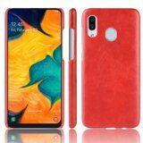 Кожаная накладка-чехол для Samsung Galaxy A20e (красный)