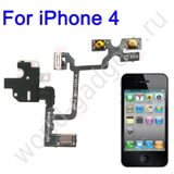 Модуль Audio Jack Ribbon Flex Cable для iPhone 4 (белый)
