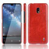 Кожаная накладка-чехол для Nokia 2.2 (красный)