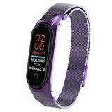 Сетчатый браслет для Xiaomi Mi Band 4 (фиолетовый)