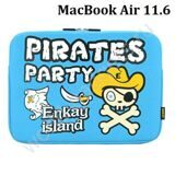 Чехол ENKAY Pirates Party для MacBook Air 11.6 (голубой)