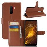 Чехол с визитницей для Xiaomi Pocophone F1 / Poco F1 (коричневый)