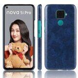 Кожаная накладка-чехол для Huawei nova 5i Pro (синий)