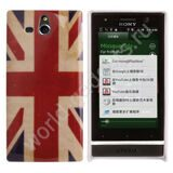 Чехол Retro United Kingdom Flag для Sony Xperia U / ST25i