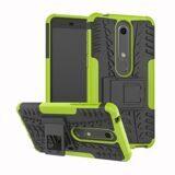 Чехол Hybrid Armor для Nokia 6.1 (черный + зеленый)