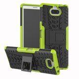 Чехол Hybrid Armor для Sony Xperia 10 (черный + зеленый)