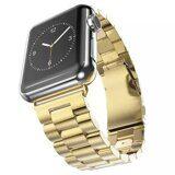 Стальной браслет Solid Stainless для Apple Watch 44 и 42мм (золото)