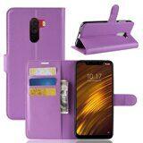 Чехол с визитницей для Xiaomi Pocophone F1 / Poco F1 (фиолетовый)